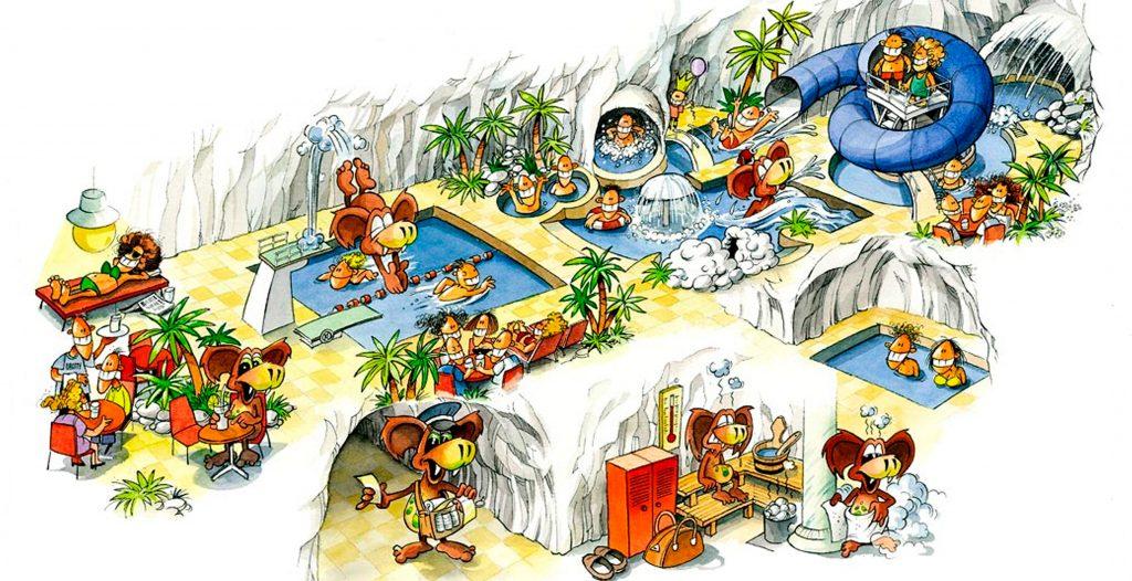 Grottebadet fasiliteter